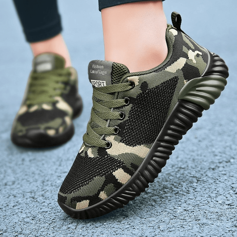 Astra Unisex Arch Support Camouflage Sports Shoes