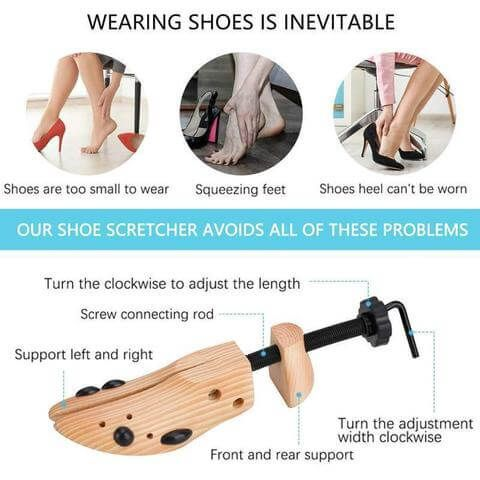 Wooden Shoe Tree For Low State Shoes